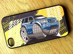 Koolart TYRE TRAX 4x4 Design For Land Rover Freelander 2 Hard Case Cover Fits Apple iPhone 4 & 4s